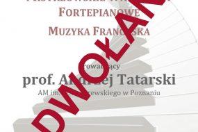 Warsztaty fortepianowe - prof. Andrzej Tatarski