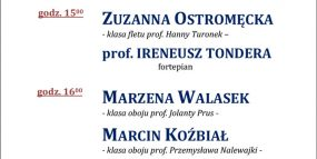 Afisz - 23.05.2017, recitale dyplomowe - Bednarska