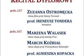 Dyplomy 2017 - sekcja instrumentów dętych