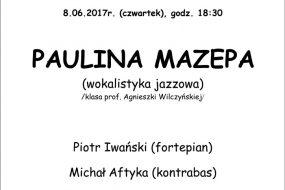 Dyplomy 2017 - Wydział Jazzu, Policealne Studium Jazzu