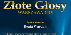 Afisz - konkurs Złote Głosy 4.09.2015