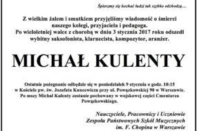 Michał Kulenty - nekrolog