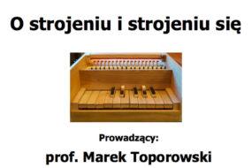 Marek Toporowski - wykłady