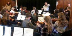 Zdjęcie - próba orkiestry szkolnej 26.03.2017