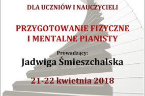Jadwiga Śmieszchalska - warsztaty dla pianistów