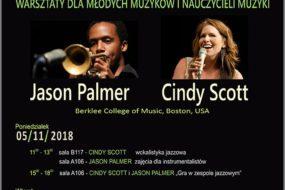 Warsztaty jazzowe – Cindy Scott, Jason Palmer