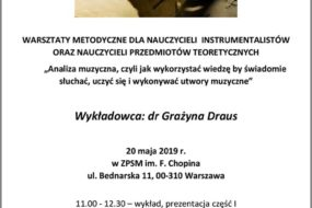 Warsztaty metodyczne dla nauczycieli - Grazyna Draus