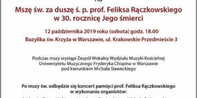 Afisz - koncert 12.10.2019
