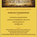 Afisz - koncert R. Gołebiowski