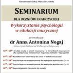 Afisz - wykład 19.10.2019 dr Anna Antonina Nogaj