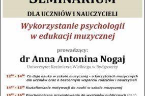 dr Anna Nogaj - seminarium