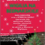 Afisz - Spotkanie wigilijne 20.12.2019
