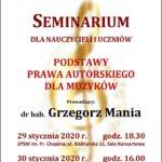 Afisz seminarium - Prawo Autorskie