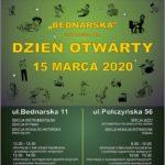 Afisz - dzień otwarty Szkoły 15.03.2020
