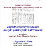 Afisz Warsztaty dla organistów