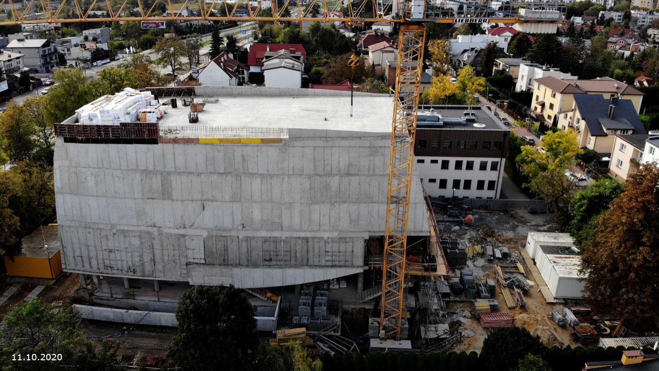 Budowa sali koncertowej - zdjęcie z dnia 11.10.2020