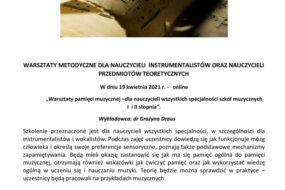Grażyna Draus - warsztaty pamięci muzycznej
