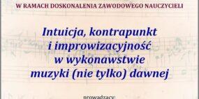 Afisz warsztatów - dr Aleksander Mocek