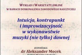 Aleksander Mocek - warsztaty