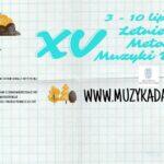 Afisz - XV KURSY METODYCZNE MUZYKI DAWNEJ