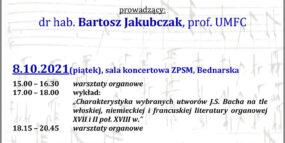 Afisz - warsztaty organowe