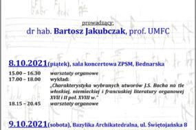 Bartosz Jakubczak - warsztaty organowe